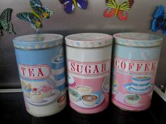 Details About WHITBY RETRO VINTAGE TEA COFFEE SUGAR RED