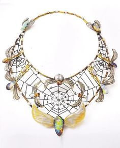 Necklace   Around 1900   Gold, silver, opals, pearls, enamel, diamonds   The Richard H. Driehaus Museum
