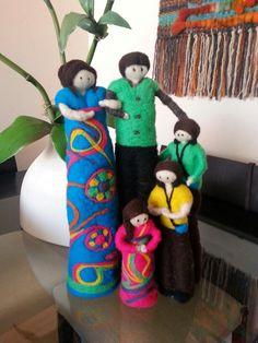 Familia hecha de vellón