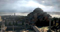 The Hippodrome and Hagia Sophia in Constantinople from the movie ''Fetih . Patras, Byzantine Architecture, Historical Architecture, Roman City, Fantasy Art Landscapes, Ancient Buildings, Hagia Sophia, Roman Empire, Reformation