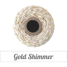 Image of * NEW * Gold Shimmer - Gold Metallic & Natural Baker's Twine