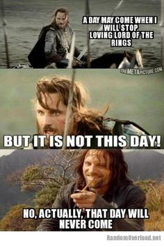So true I'll never stop loving the hobbit either
