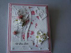 Kartka ślubna w dwóch kolorach