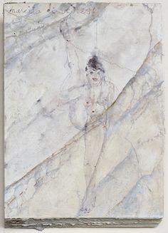 Anselm Kiefer Aquarelle et crayon sur plâtre sur carton Couverture 64.5 x 48.5 x 8.5 cm