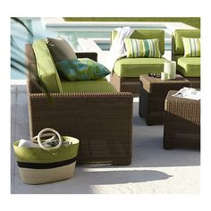 Sanibel Modular Left Arm Chair in Outdoor Lounging | Crate and Barrel