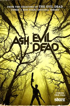 Starz is hopping on the monster train by rebooting the classic 1981 horror film The Evil Dead into a TV show. It's called Ash vs Evil Dead, and the first teaser is here, along with a poster.