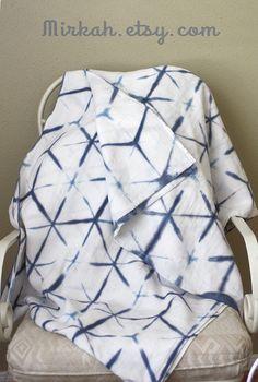 Shibori Dyed Linen Baby Wrap / Fabric Sz 5-6 on Etsy, $89.00