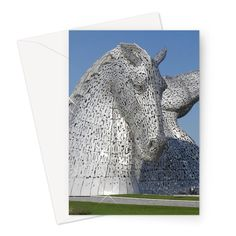 the Kelpies 1121, the Helix , Falkirk , Scotland Greeting Card – Photogold Scottish gifts Sculptures, Lion Sculpture, Clydesdale Horses, Scottish Gifts, Unique Photo, Original Image, Scotland, Photo Gifts, Greeting Cards