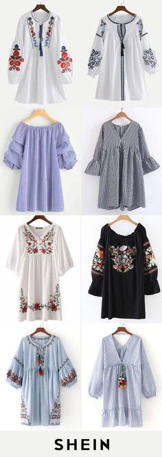 Long sleeve dresses – Best Of Likes Share Look Fashion, Hijab Fashion, Fashion Dresses, Womens Fashion, Fashion Trends, Fashion Clothes, Trendy Dresses, Casual Dresses, Casual Outfits