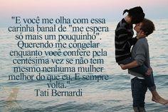 Frase de Tati Bernardi