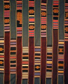 Africa |  ewe Kente Cloth from Ghana.