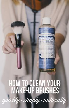 Here's how to clean your make-up brushes with only one ingredient!