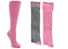 Girls' Candy Girl® Ribbed Cuff Knee High Socks