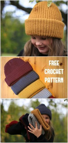 Bonnet Crochet, Crochet Motifs, Afghan Crochet Patterns, Crochet Stitches, Knitting Patterns, Knit Crochet, Beanie Crochet Pattern Free, Crochet Things, Beginner Crochet Hat