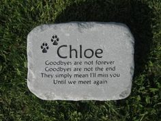 Dog Memorial Stone for Chloe