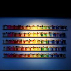 This is how I need to organize my Pez Dispenser collection some day.