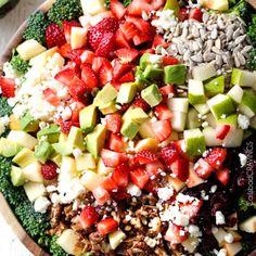 Strawberry Broccoli Salad with Creamy Poppy Seed Dressing