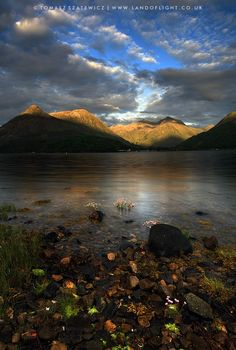 Loch Leven and Glencoe Mountains, Highlands, Scotland.