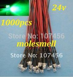 50 x Red LED Lamp Light Set 20cm Pre Wired 5mm 12V DC