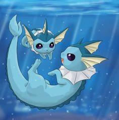 Flareon jolteon vaporeon espeon umbreon leafeon glaceon eevee pokemon pinterest - Carte pokemon aquali ...