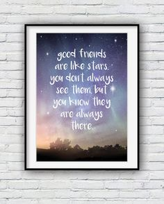 £8.00 GBP plus shipping  Good Friends are Like Stars best friend gift by Redpostbox on Etsy
