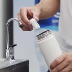 The First Ever Portable Water Purifier Water Filter, Glass Of Milk, Minerals, Workouts, Stuff To Buy, Water Purification, Work Outs, Excercise, Workout Exercises