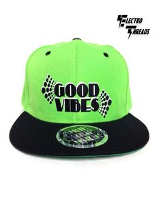 d6695203b93 Good Vibes Neon Green and Black Snapback. Moab Apparel · Hats