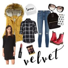 """Autumn Velvet"" by ameliekaced on Polyvore featuring Ally Fashion, Frame Denim, New Look, Topshop, Dr. Martens, Velvet, Gucci and Tom Ford"