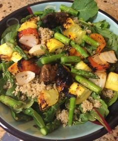 Grilled Spring Vegetables and Quinoa Salad - - This quinoa salad ...