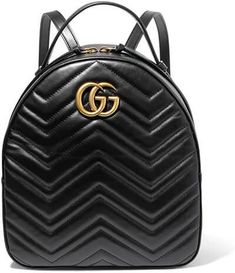 c1586590c52aa Gucci - Gg Marmont Quilted Leather Backpack - Black - one size