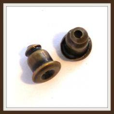 10 db Antikolt bronz színű fülbevaló-, sáltű vég NIKKELMENTES - Fülbevaló alkatrészek - Csinálj Ékszert! webáruház