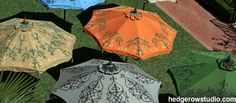 Hand-painted custom print pattern patio umbrellas and garden umbrellas. Buy commercial quality patio umbrellas at this site. Our clients include luxury hotels and designers who order their patio umbrellas here. Fabric Patterns, Color Patterns, Print Patterns, Commercial Umbrellas, Hotel Pool, Patio Umbrellas, Windy Day, Fabric Swatches, Dark Wood