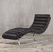 Genial Oviedo Leather Chaise
