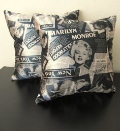 SET OF TWO Marilyn Monroe PillowVelvet Pillow Pop by PillowMarket, $35.00