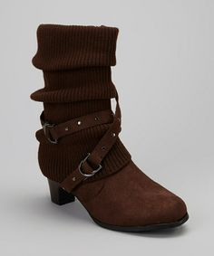 Love this Brown Lizzy Boot by Anna Shoes on #zulily! #zulilyfinds