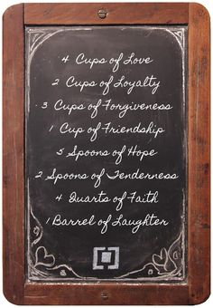 Recipe for a happy home. So fortunate to have this