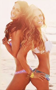 Karena and Katrina of Toneitup.com, check out their websites for free workouts and healthy recipes! I love them