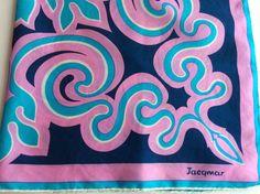 Vintage Jacqmar Silk Scarf Designer Silk Scarf by ProctorCreations