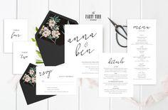 Wedding Invitation Printable Wedding by ThePartyTreeStudio