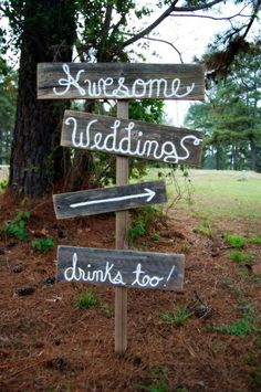 Rustic Wedding Signs Cursive OR Print Reclaimed Wood. Directional Arrow Wooden Sign Reception Signs. Outdoor Wedding Decor