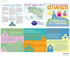Réseau des écoles Diwan - Dépliant 3 volets  (design Owen Poho)
