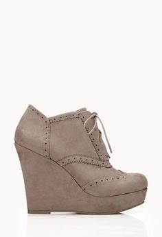 Fresh Brogue Booties | FOREVER21 Boot up! 50% off #Boots and #Booties ends 1/1