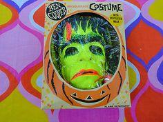 VTG 1960s Retro Groovy Ben Cooper 1965 Frankenstein Halloween Masquerade Costume