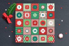 Christmas Advent Calendar. Christmas Patterns. $4.00