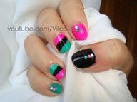 Punk short nails design