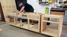 The Right Woodworking Plans Make Woodworking Projects Easy - wood working projects Building Kitchen Cabinets, Diy Kitchen Cabinets, Kitchen Cabinet Design, How To Make Kitchen Cabinets, Kitchen Decor, Kitchen Ideas, Kitchen Storage, Woodworking Kitchen Cabinets, Workshop Cabinets