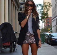 silber glitzer shorts Armreifen