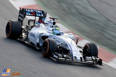 Felipe Massa in his Williams testing at the Circuit de Catalunya, 26th of februari 2015