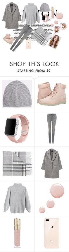 """Ootd my daughter"" by vierabresto ❤ liked on Polyvore featuring Timberland, Apple, J Brand, Burberry, MANGO, Topshop and Smith & Cult"