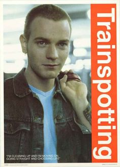 """A great poster of Ewan McGregor - Marc """"Rent Boy"""" Renton in Danny Boyle's 1996 film adaptation of Irvine Welsh's novel Trainspotting! Published in 1996. Fully licensed. Ships fast. 25x35 inches. Check"""